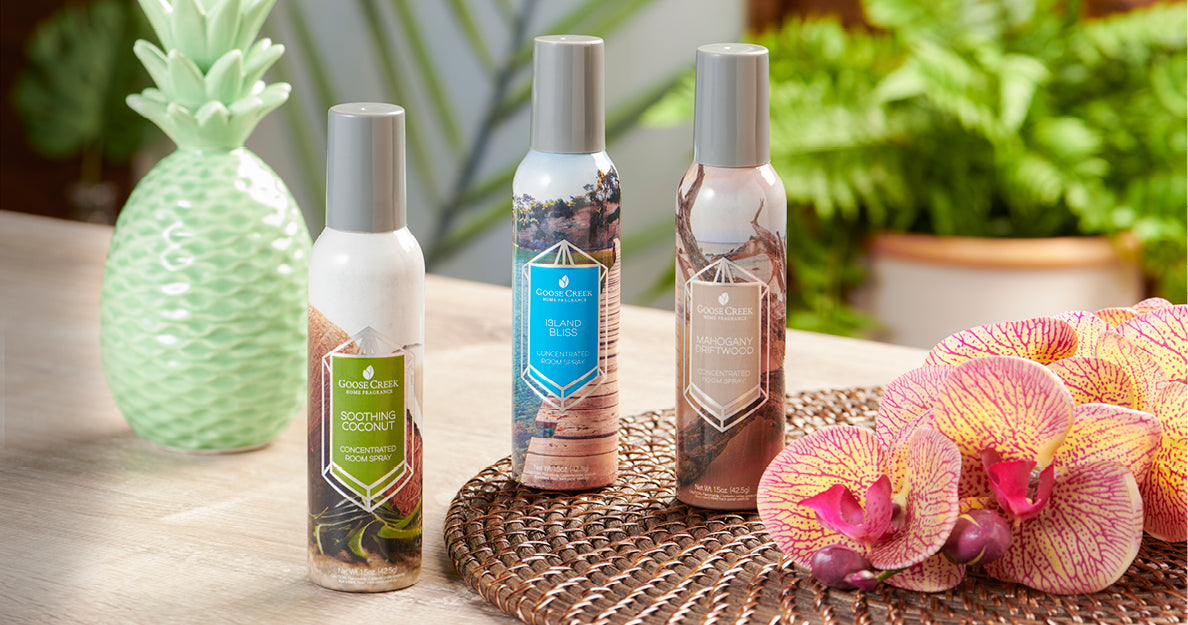 Room Sprays: Highly scented room sprays are perfect for adding a quick burst of fragrance to any room. Browse over a dozen unique fragrances designed to truly transform your favorite space.