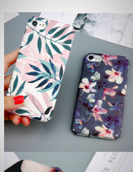 Flower cover in different shades for iPhone 6 6s 7 8 Plus - XHIARA