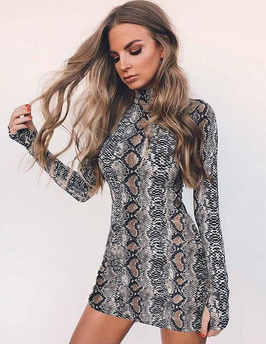 Short dress, snake print. - XHIARA