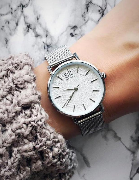 Stainless steel casual mesh watch - XHIARA