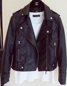 Black and pink leather jackets. - XHIARA