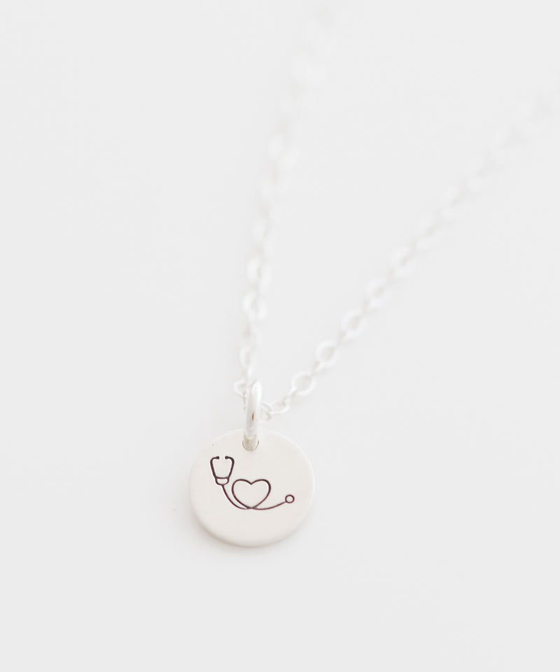 Stethoscope Tiny Coin Necklace