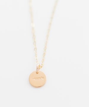 Syringe Tiny Coin Necklace