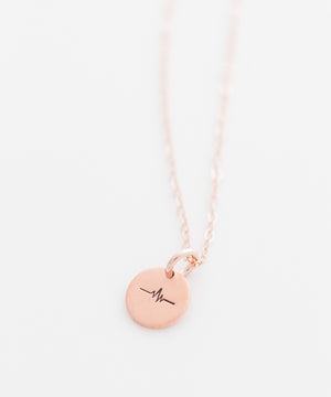 Heartbeat Tiny Coin Necklace