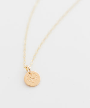 Beat of the Heart Tiny Coin Necklace