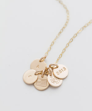 Custom Tiny Coin Necklace