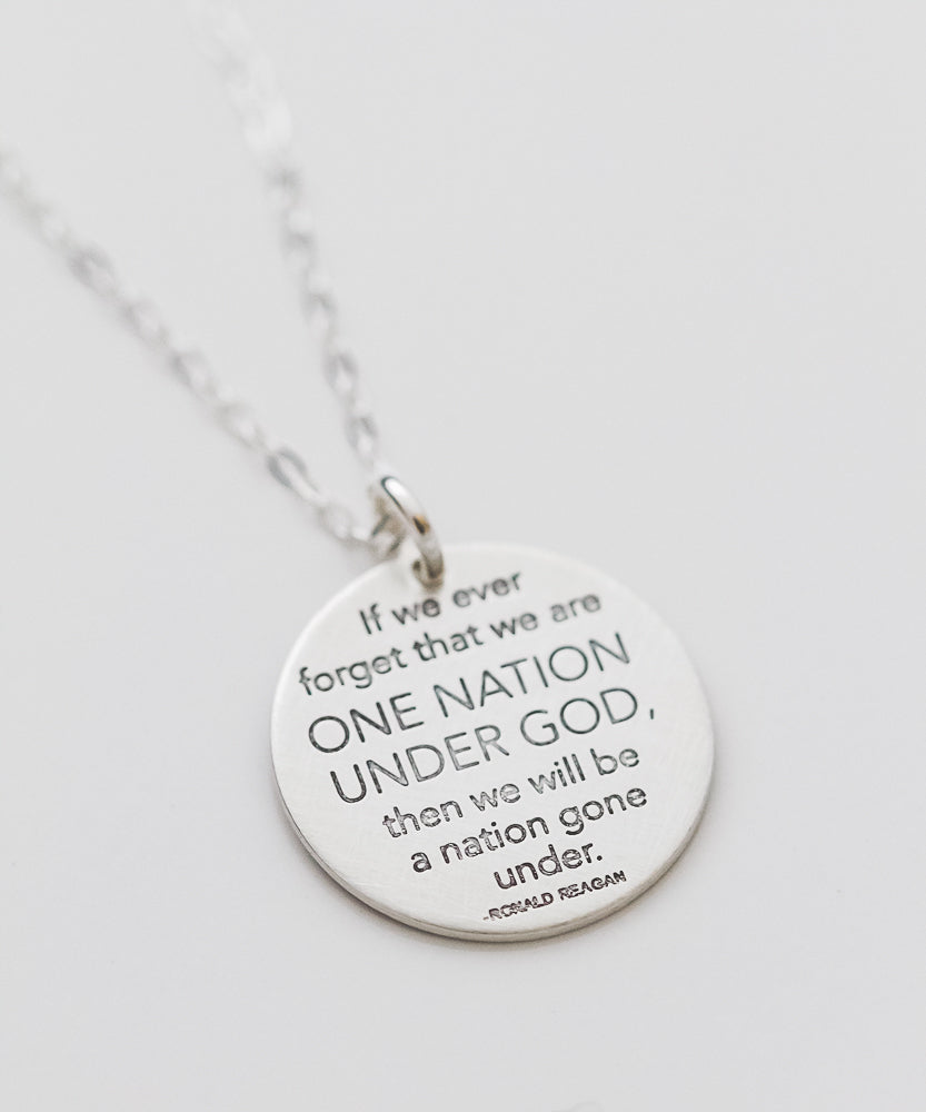 'One Nation Under God' Coin Necklace