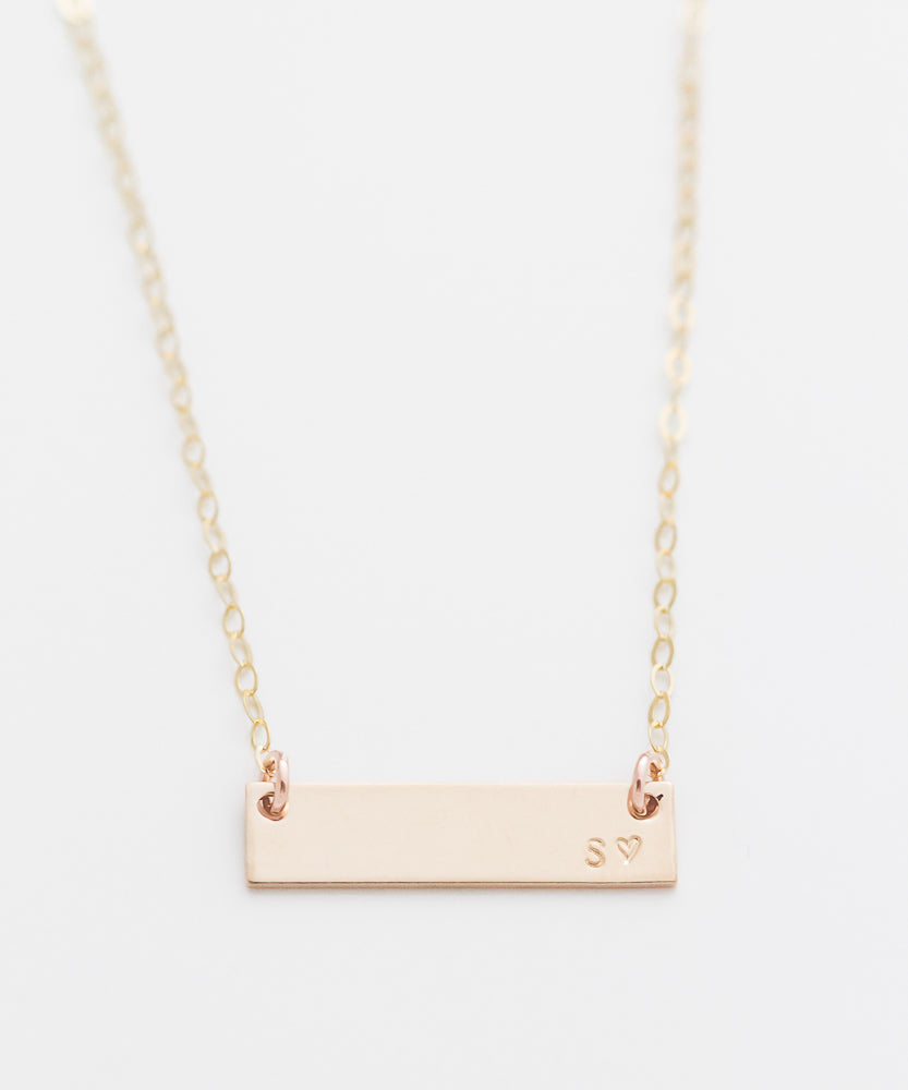 Custom Simple Petite Bar Necklace