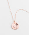 Dandelion Military Child Small Coin Necklace