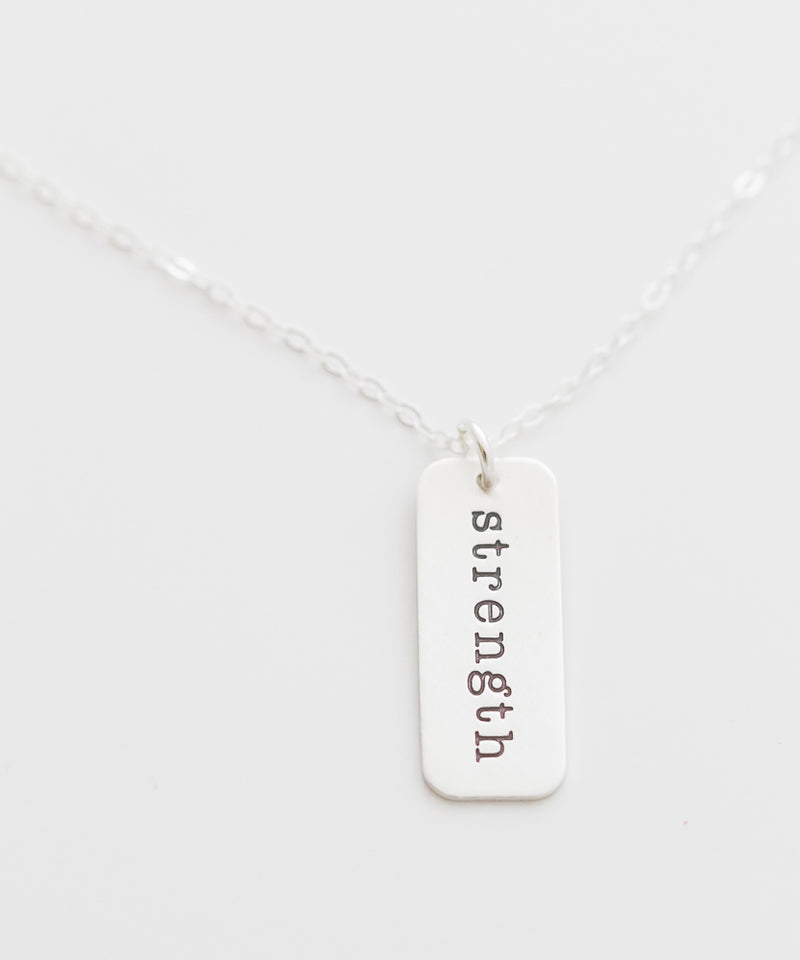 'Strength' Tag Necklace