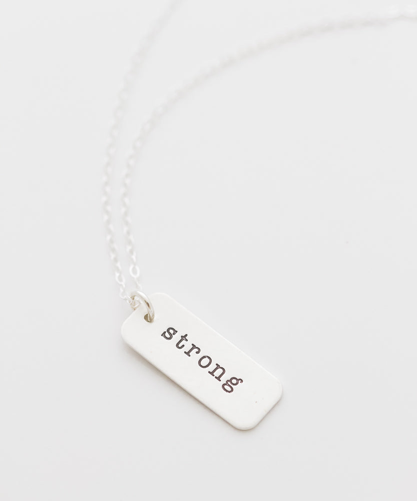 'Strong' Tag Necklace