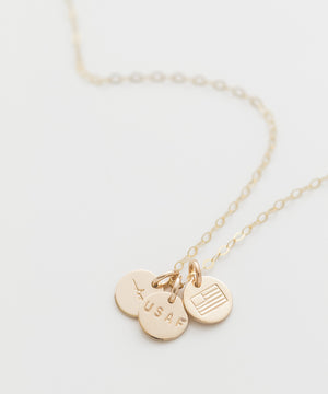 United States Air Force Tiny Coin Necklace