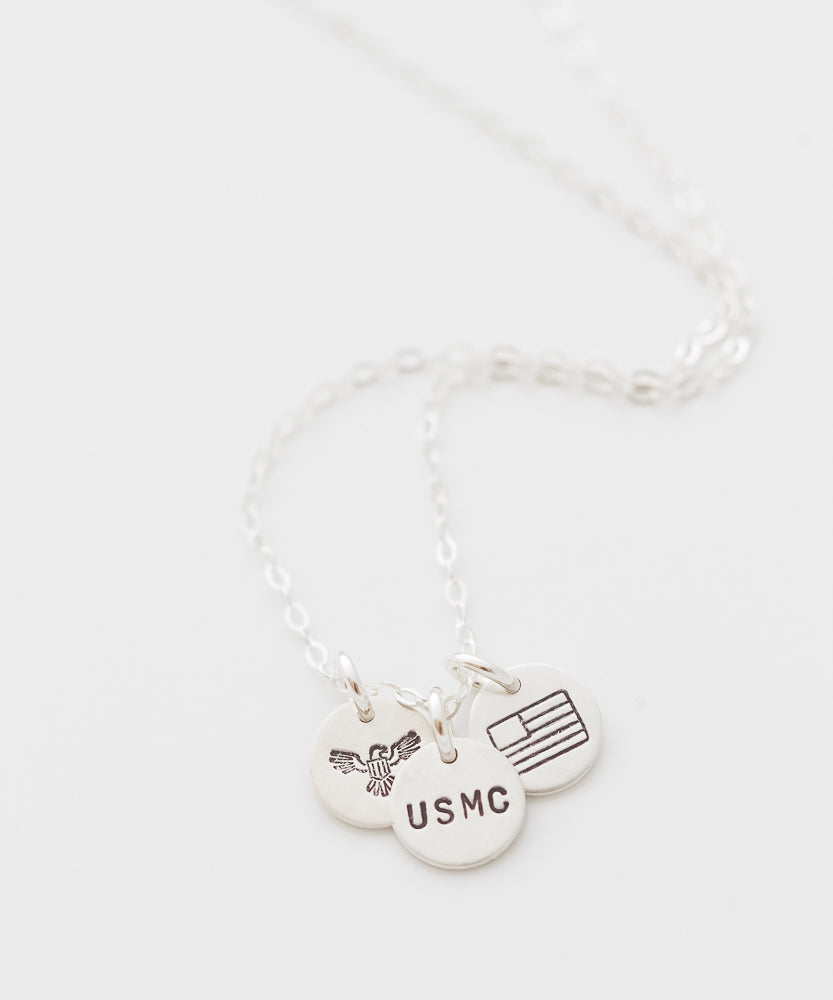 United States Marine Corps Tiny Coin Necklace