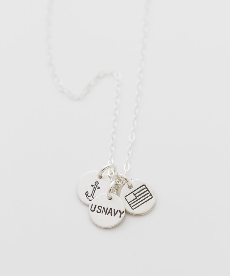 United States Navy Tiny Coin Necklace