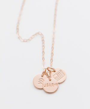 United States Army Tiny Coin Necklace