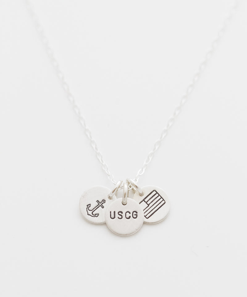 United States Coast Guard Tiny Coin Necklace