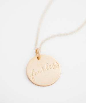 'Fearless' Coin Necklace