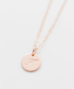 Handgun Tiny Coin Necklace