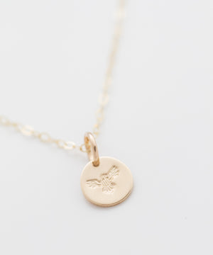 Bald Eagle Tiny Coin Necklace