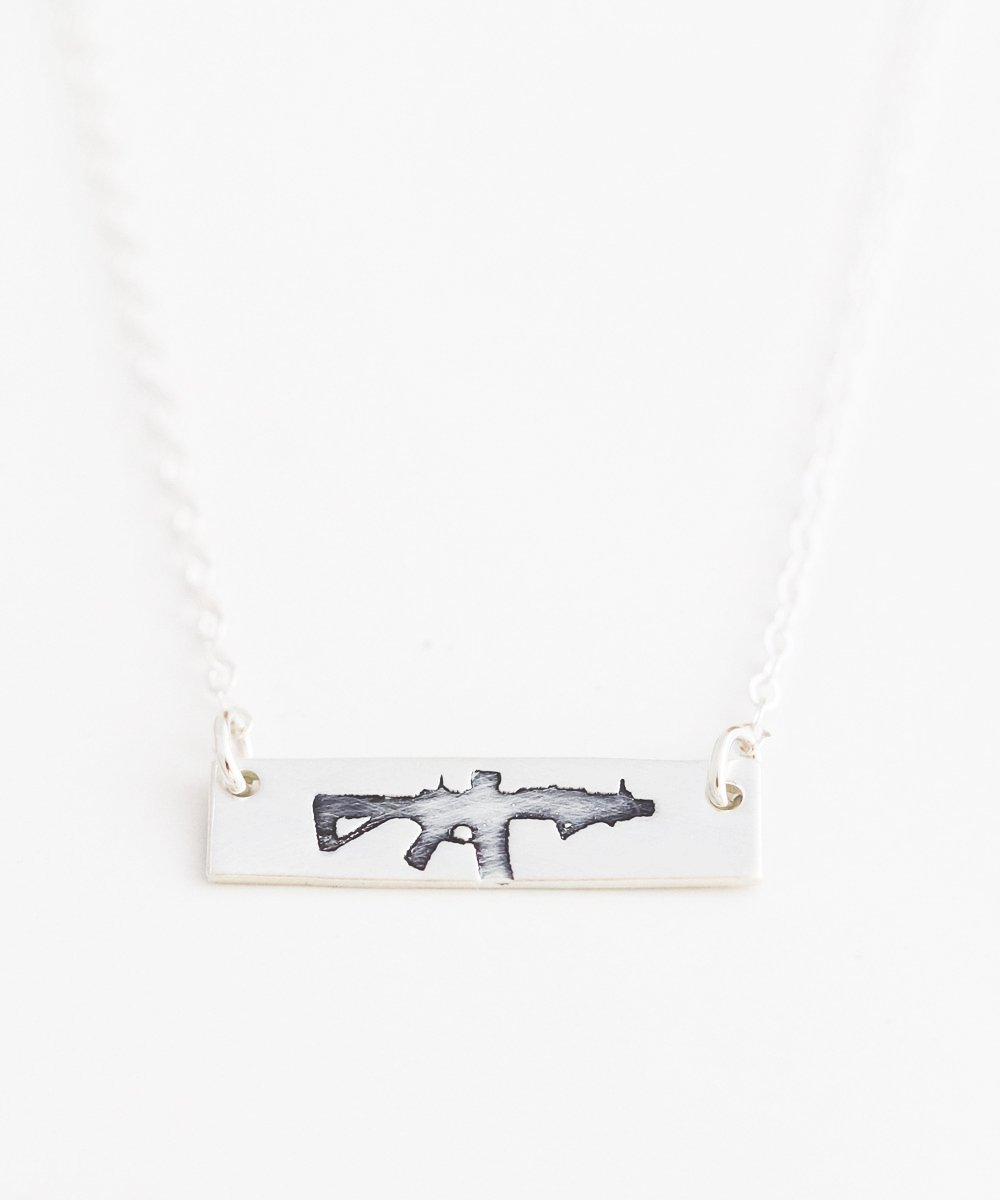 Freedom Rifle Petite Bar Necklace