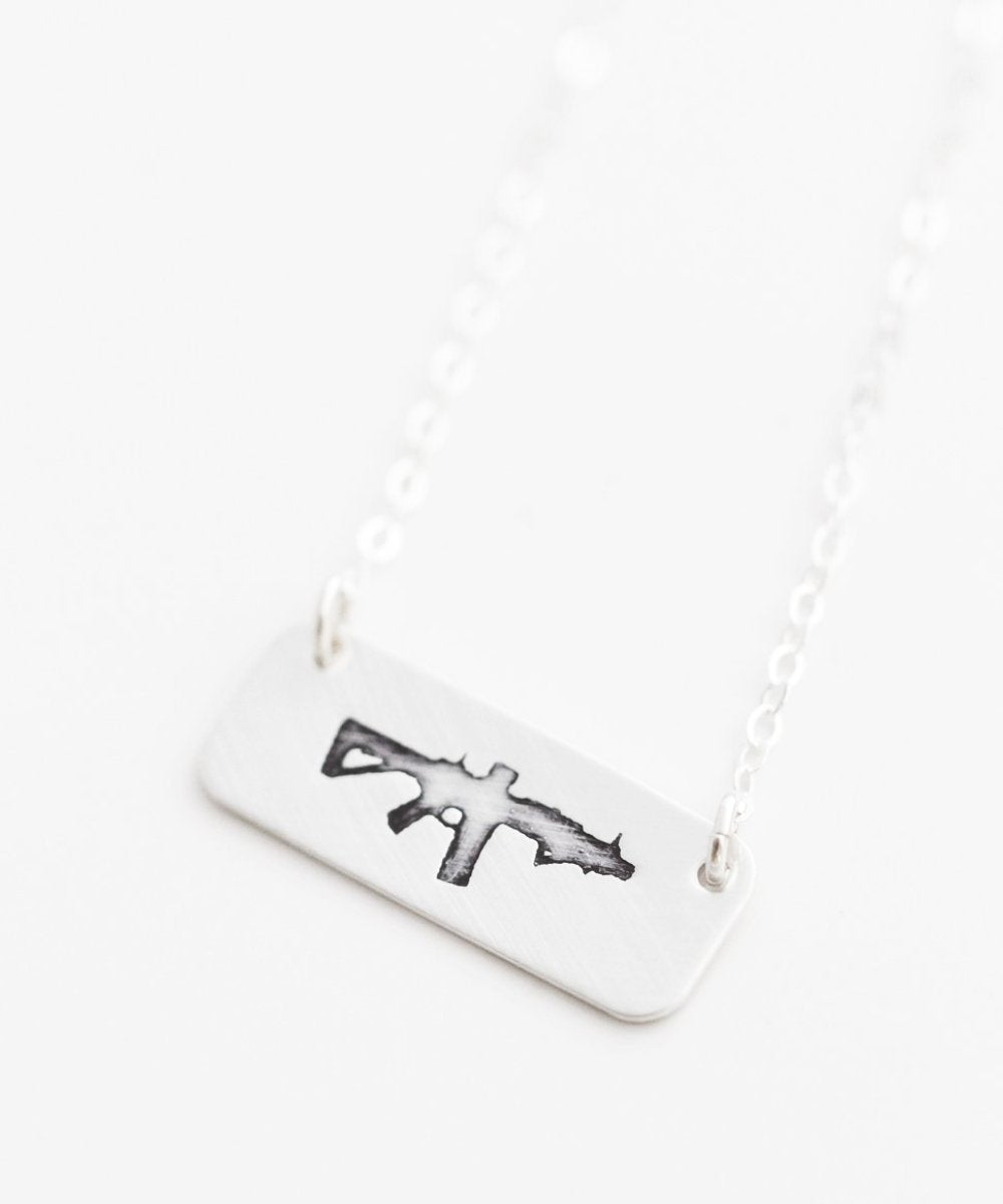Freedom Rifle Short Bar Necklace