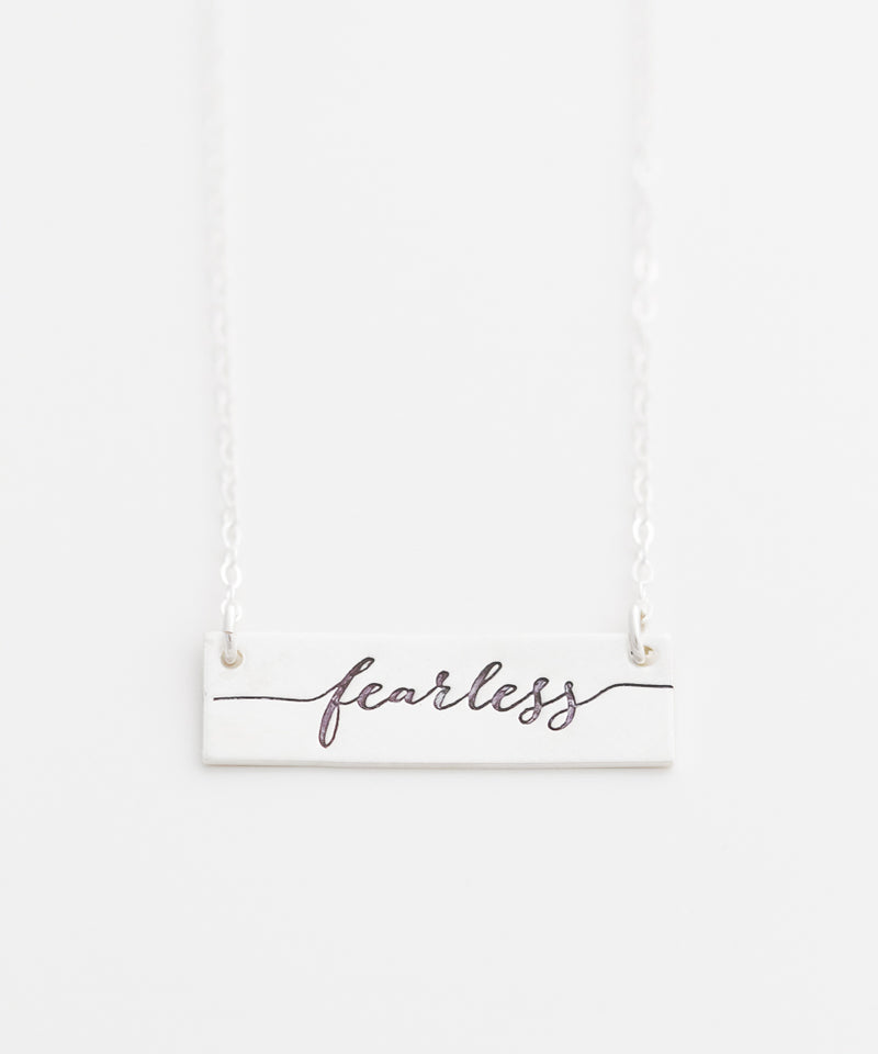 'Fearless' Bar Necklace