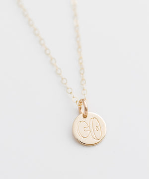 Dumbbell Tiny Coin Necklace