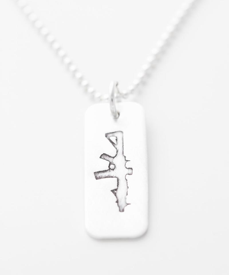 Freedom Rifle Tag Necklace