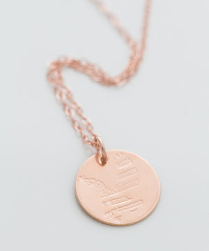 Freedom Forged Eagle Coin Necklace
