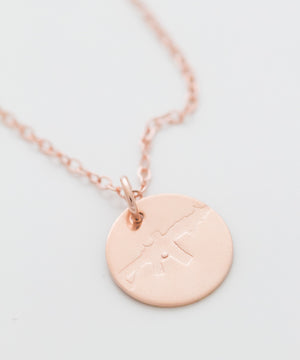 Freedom Rifle Coin Necklace