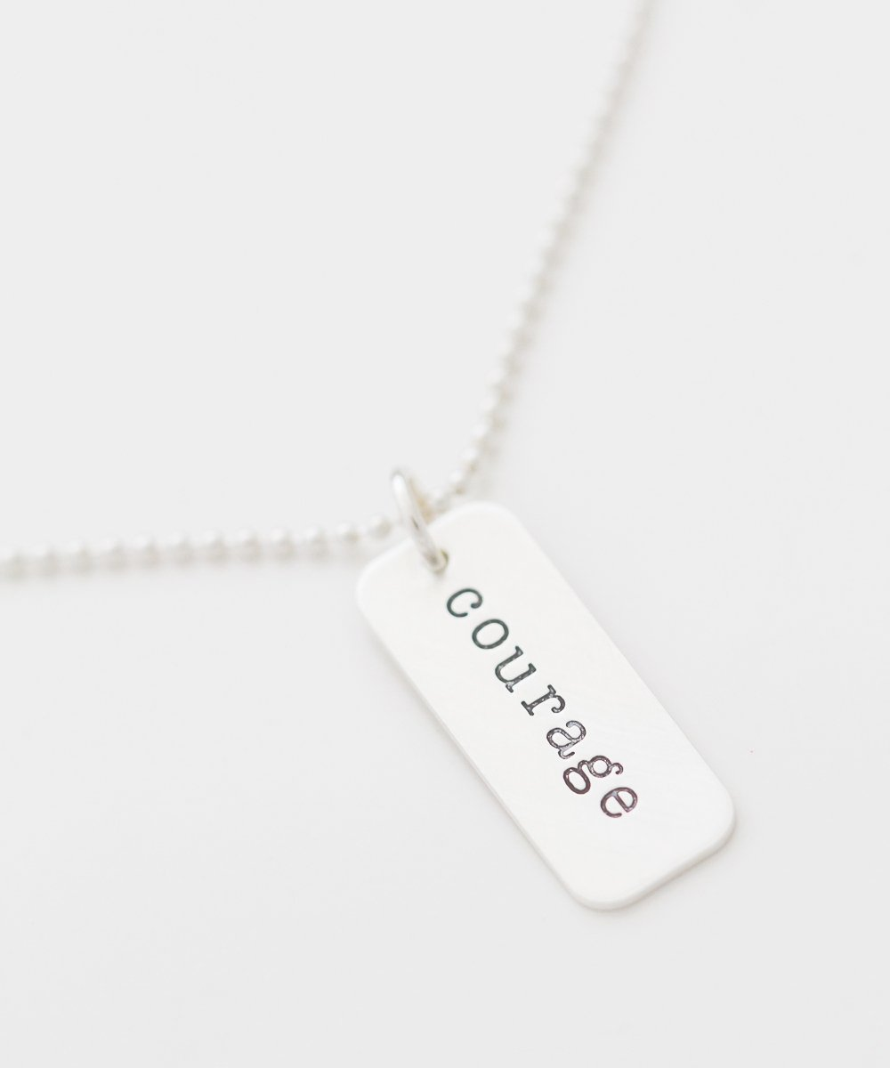 'Courage' Tag Necklace