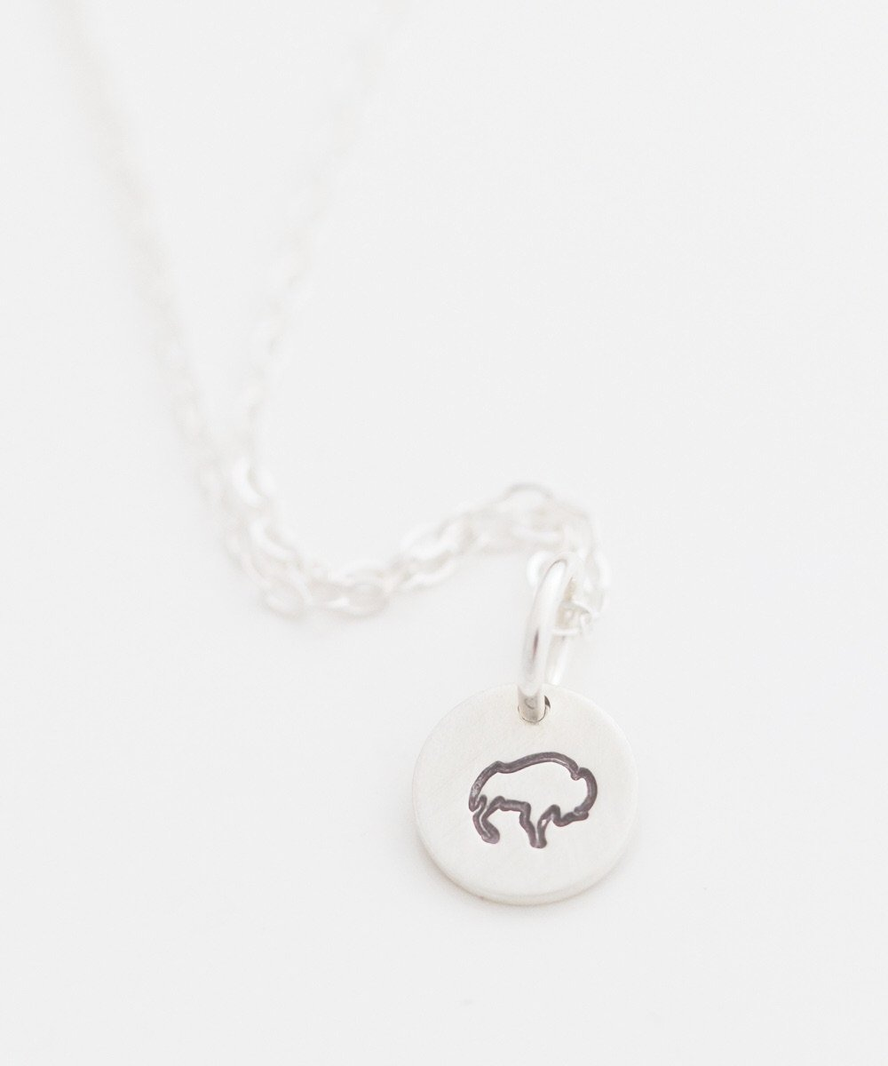 Bison Tiny Coin Necklace