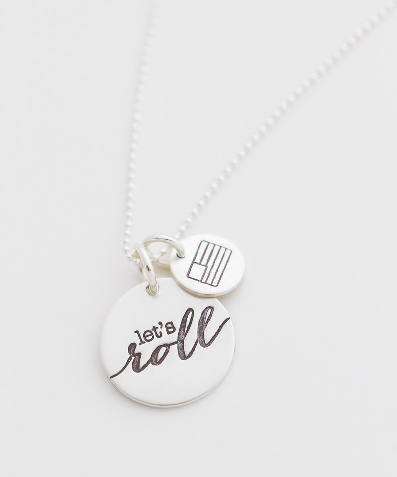 'Let's Roll' Bravery Coin Necklace