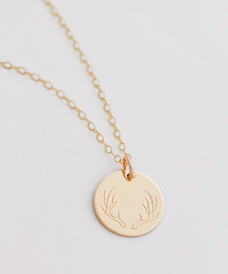 Big Antler Coin Necklace