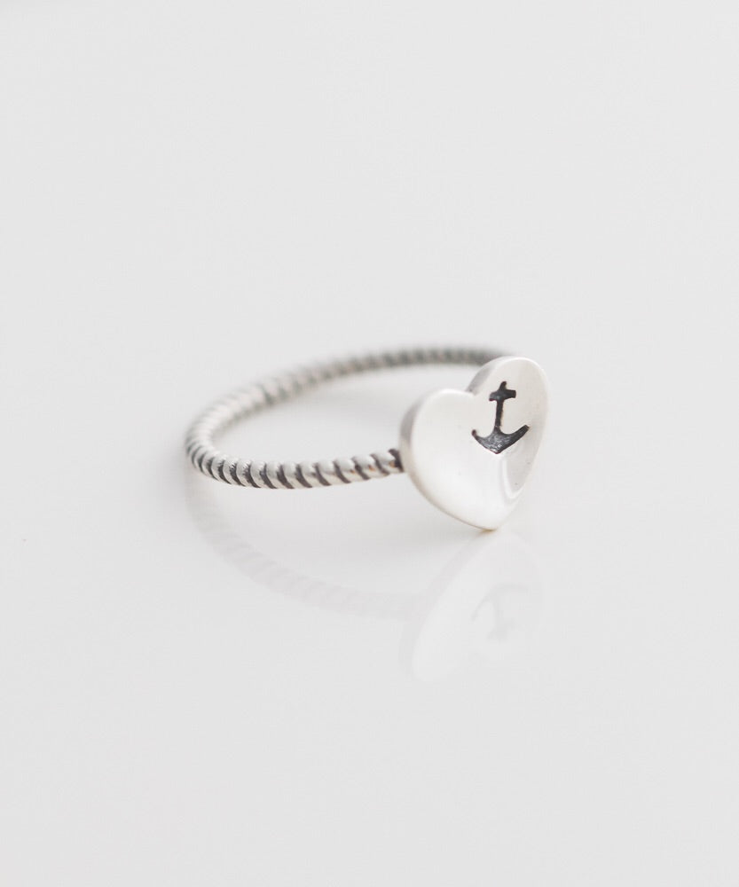 U.S. Navy Heart + Anchor Ring