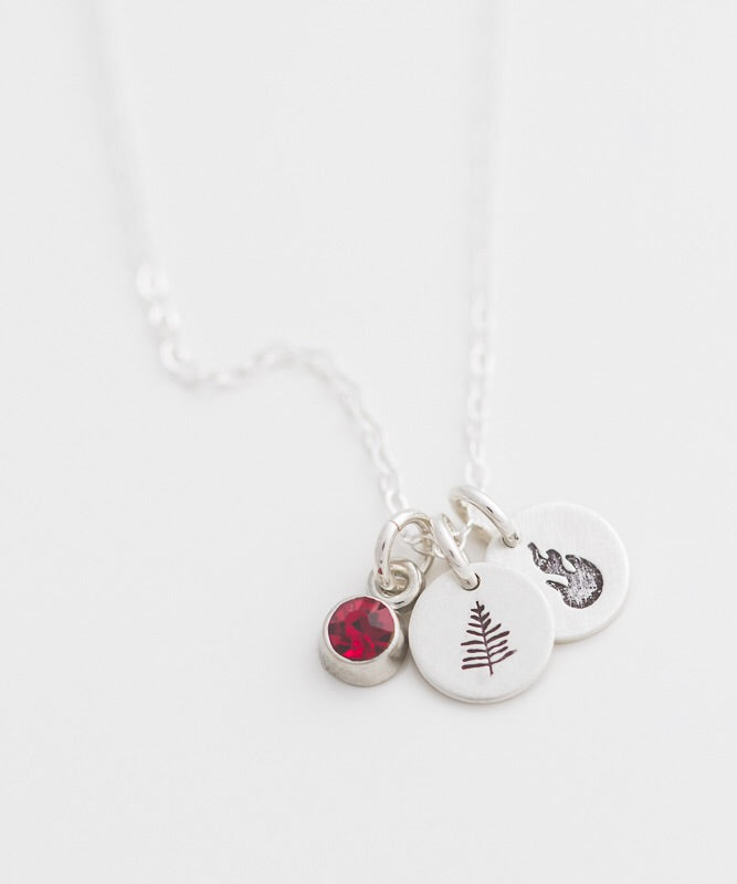 Wildland Fire Tiny Coin Necklace