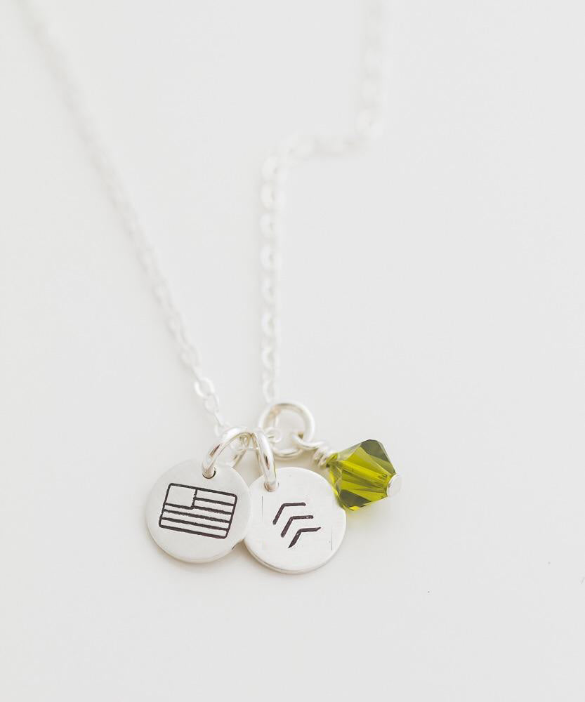 Army Tiny Coin Necklace