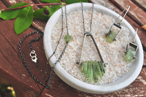 Kyanite No.2 | Green Lagoon Necklace
