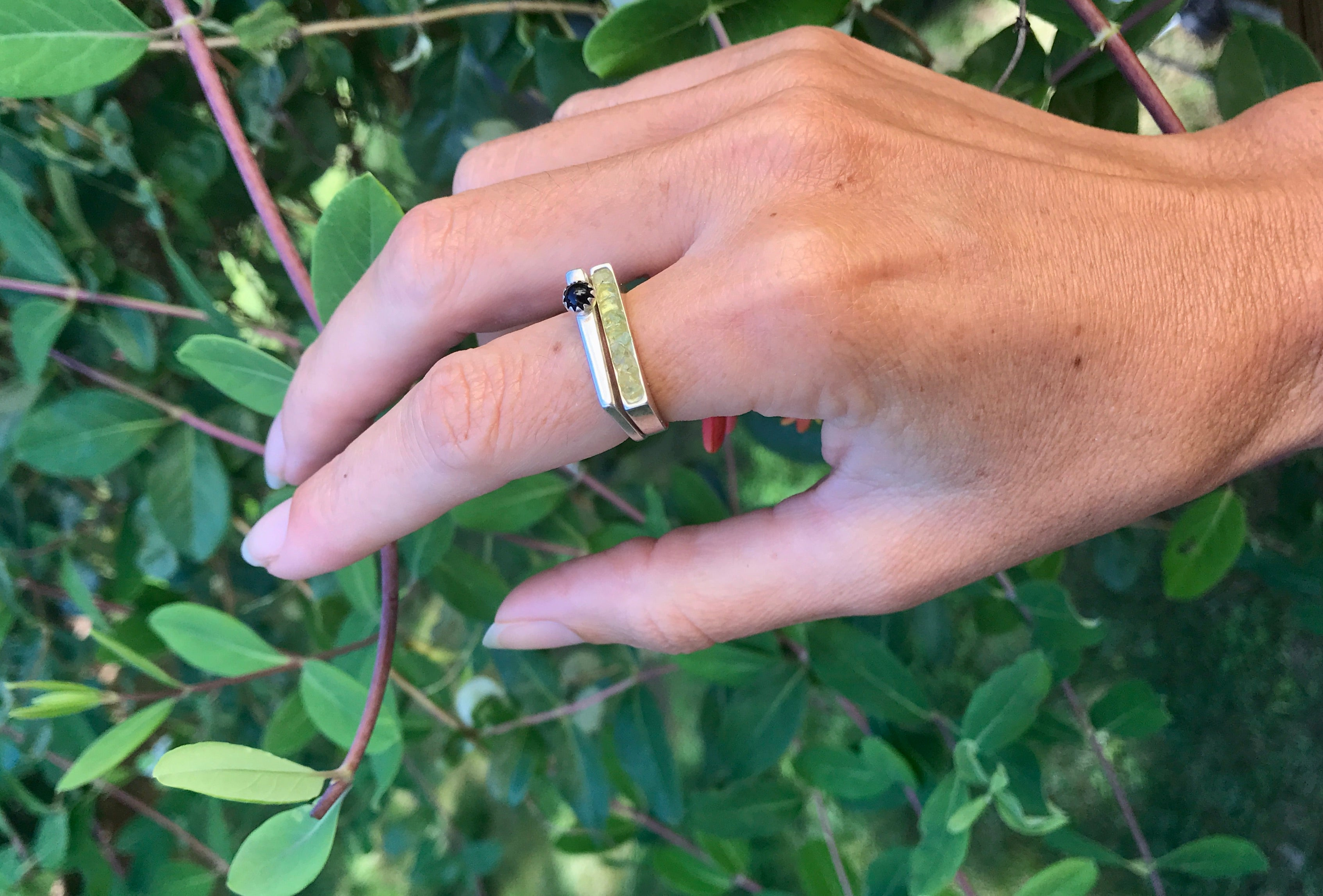 Peridot | Stacking Ring | Size 7