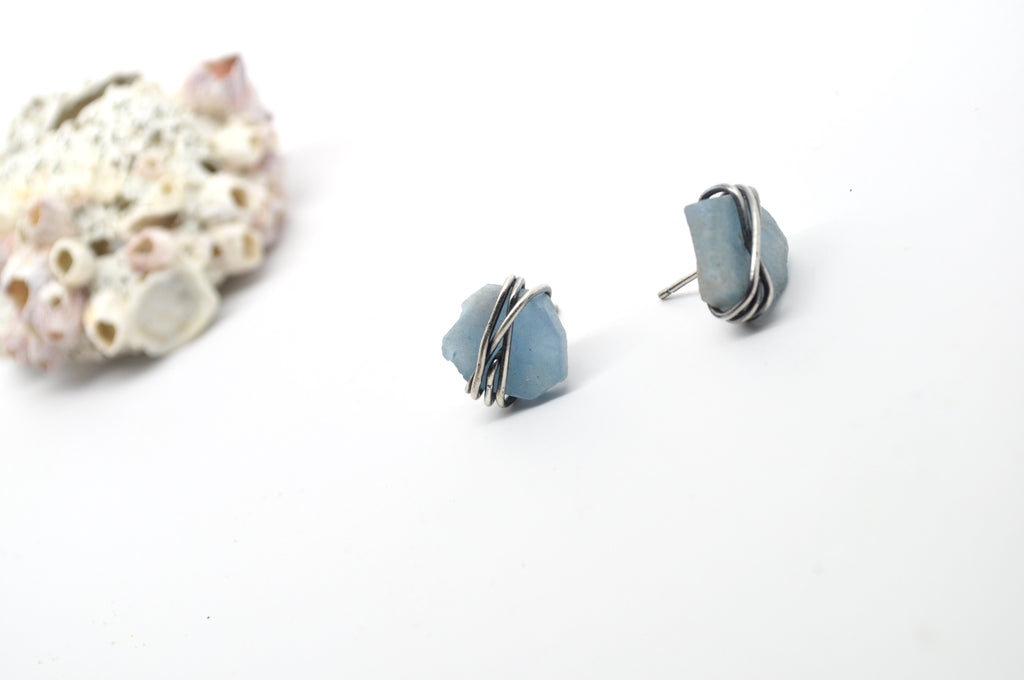 Aquamarine | Maven Stud Earrings