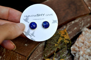 Lapis | Faceted stud earrings