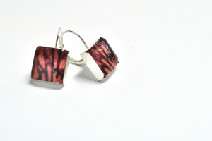 Abstracta. Leverback Earrings. - cameraSHY cove