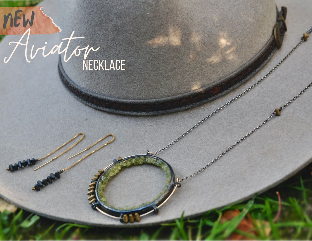Peridot | Aviator Necklace