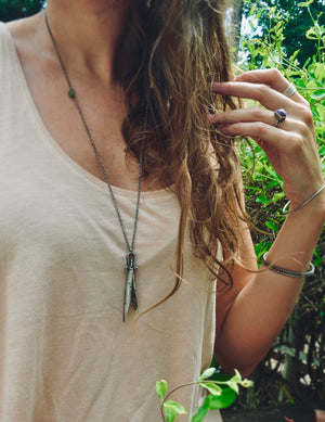 Shorl Tourmaline | Husk Necklace