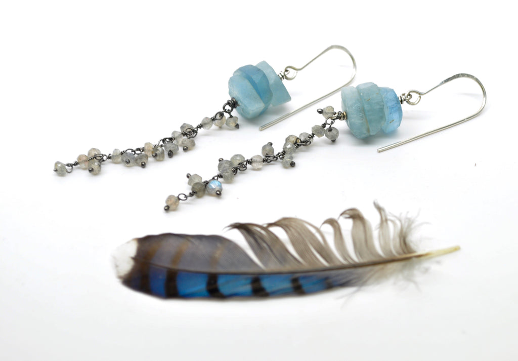 Aquamarine | Atolla Earrings