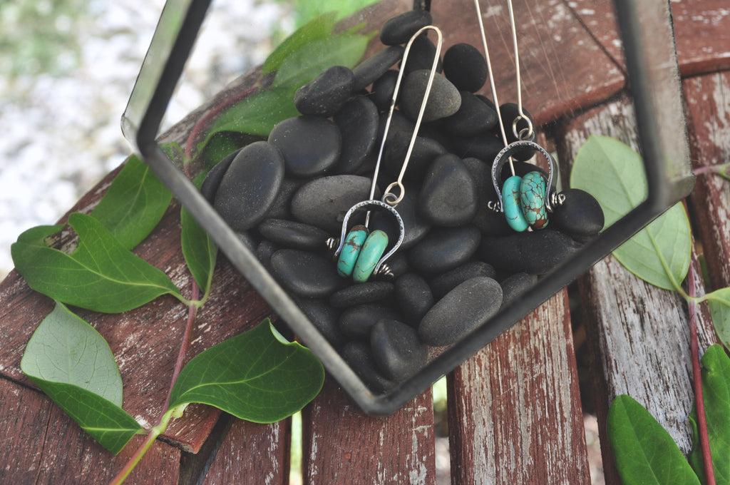Turquoise | Dual Axel Earrings