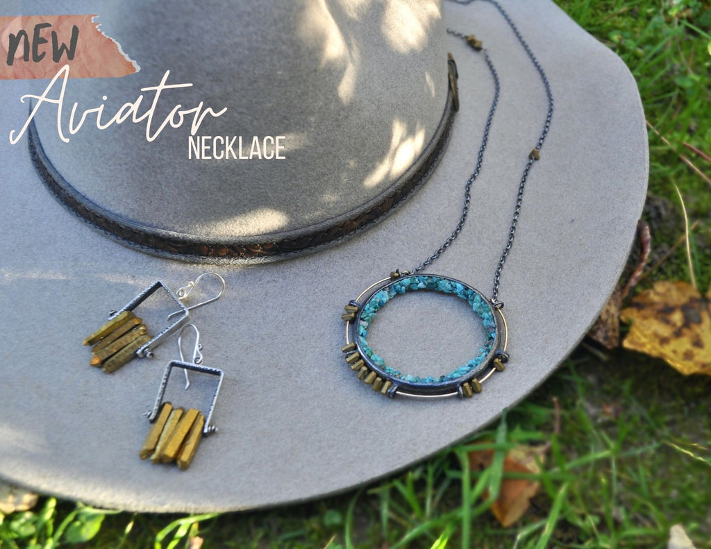 Turquoise | Aviator Necklace | Ready to ship