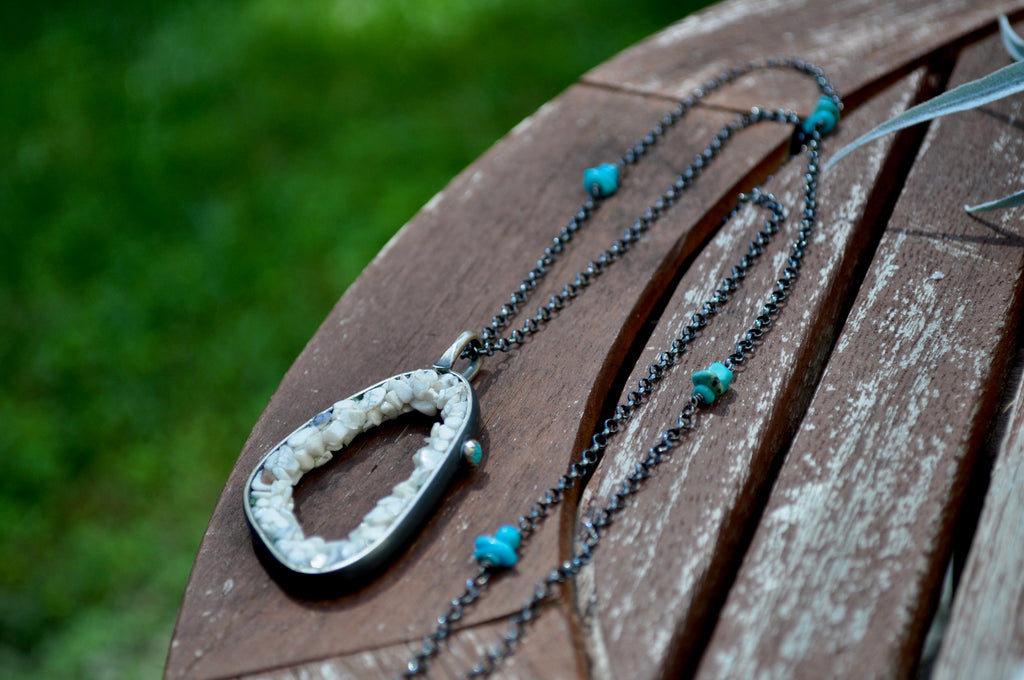 Howlite | Geode Necklace | Ready to ship