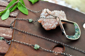 Watermelon Tourmaline | Terrain Necklace | Ready to ship