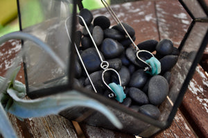 Amazonite | Dual Axel Earrings